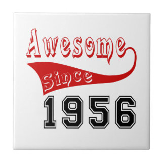 Awesome Since 1956 Small Square Tile