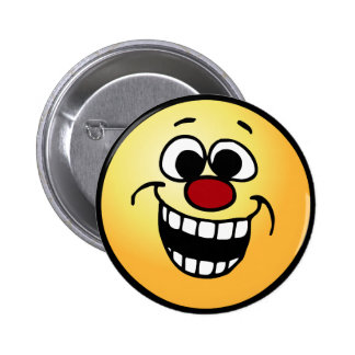 Awesome Smiley Face Grumpey 6 Cm Round Badge