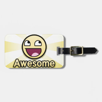 Awesome Smiley Face Luggage Tag