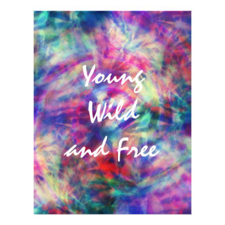 Awesome trendy tribal tie dye young wild and free flyer