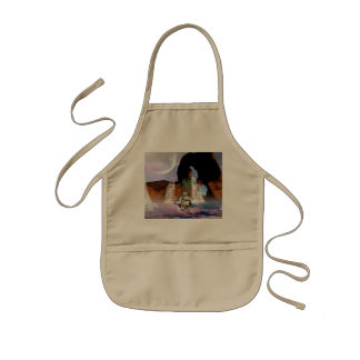 Awesome view over the ocean with ship kids apron