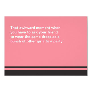 Awkward Moment Will You Be My Bridesmaid Card 13 Cm X 18 Cm Invitation Card