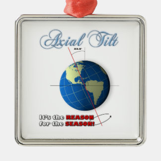 Axial tilt christmas ornament