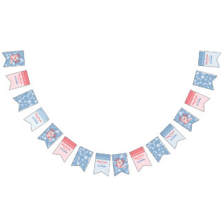 Axolotl and the Bubbles - Blue Water Baby Shower Bunting