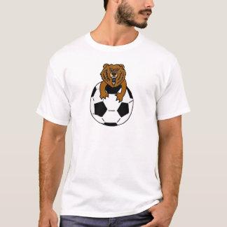 AY- Bear on a Soccer Ball Art T-Shirt