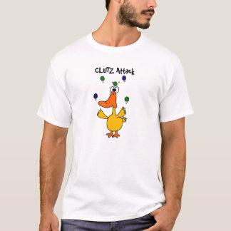AY- CLUTZ Duck Juggling Design T-Shirt