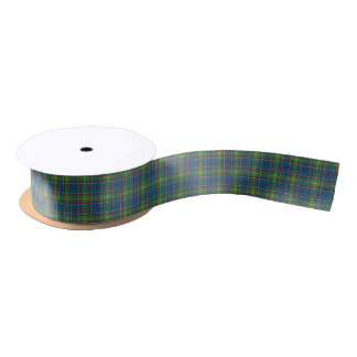 Ayrshire Scotland District Tartan Ribbon Satin Ribbon
