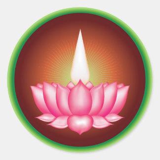 Ayyavazhi Indian Dharmic Religious Symbol Round Sticker