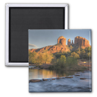 AZ, Arizona, Sedona, Crescent Moon Recreation 3 Square Magnet