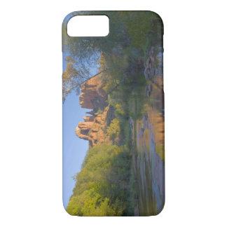 AZ, Arizona, Sedona, Crescent Moon Recreation iPhone 7 Case