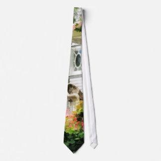 Azaleas by Porch With Wicker Chair Tie