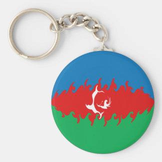 Azerbaijan Gnarly Flag Keychain