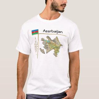 Azerbaijan Map + Flag + Title T-Shirt
