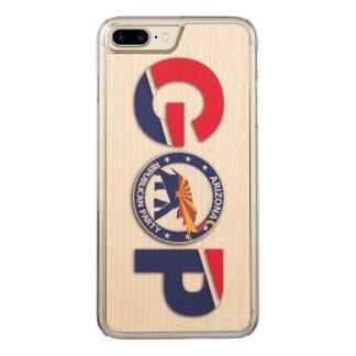 AZGOP iPhone 6/6s Plus Maple Wood Carved iPhone 8 Plus/7 Plus Case