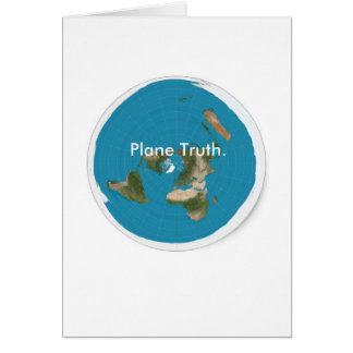 Azimuthal Equidistant 'Plane Truth.' Greeting Card