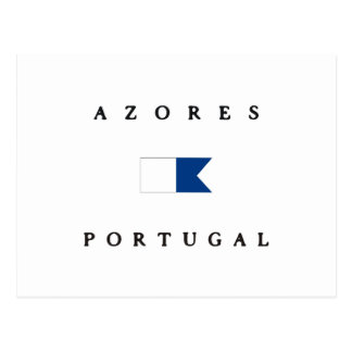 Azores Portugal Alpha Dive Flag Postcard