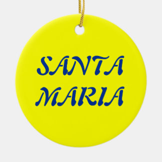 Azores- Santa Maria Christmas Ornament
