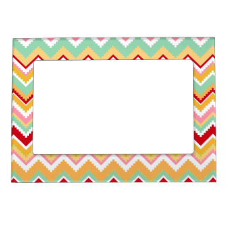 Aztec Andes Tribal Mountains Chevron Fiesta Zigag Magnetic Picture Frame