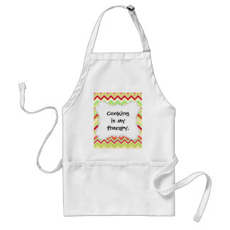 Aztec Andes Tribal Mountains Chevron Zig Zags Standard Apron