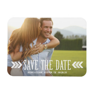 Aztec Arrows Overlay | Save the Date Magnet