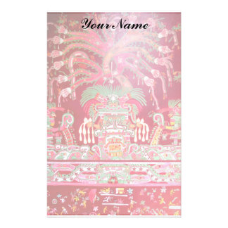 Aztec Art on Red Design Stationery