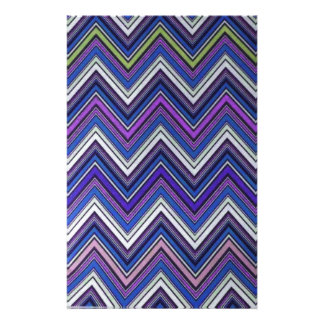 Aztec Blue Green Purple  Chevron Girly Pattern Stationery