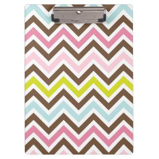 Aztec Colors - Chic Chevron Zigzag Pattern Clipboards
