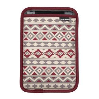 Aztec Essence Ptn IIIb Cream Taupe Red iPad Mini Sleeve