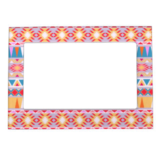 Aztec inspired design Tribal Pattern Magnetic Frame