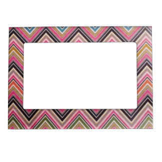 Aztec Pink Red Green Chevron Girly Pattern Magnetic Frame
