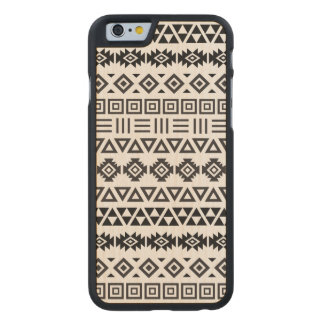 Aztec Style Pattern II (b) – Monochrome Carved® Maple iPhone 6 Case