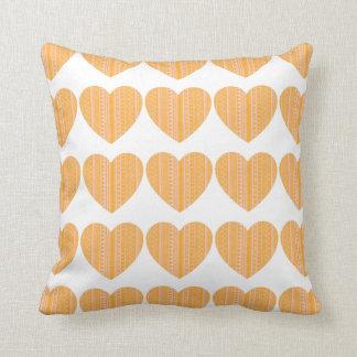 Aztec Tile Heart Throw Pillow