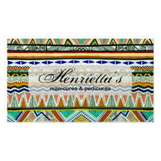 Aztec Tribal Fine Abstract Nature Print Pack Of Standard Business Cards