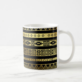 Aztec Tribal Print Neutral Browns Beige Taupe Cup