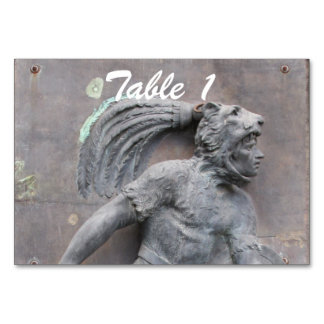 Aztec Warrior Stone carving Table Cards