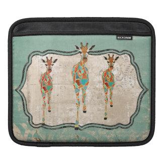 Azure & Amber Giraffes  iPad Sleeve