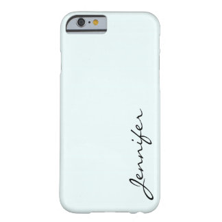 Azure mist color background barely there iPhone 6 case