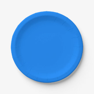 Azure Solid Colour Customise It 7 Inch Paper Plate