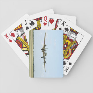 B17, Landing. (plane;b17_WWII Planes Playing Cards