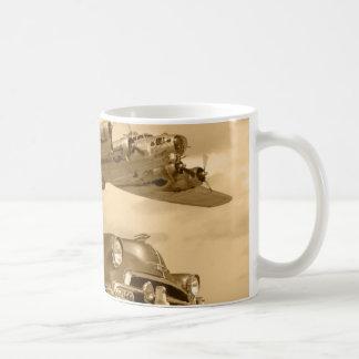 B17 WWII Bomber Over Chevy Coffee Mug