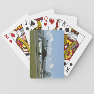 B25 Landing. (plane;b25_WWII Planes Playing Cards