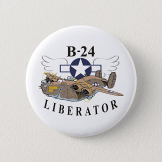 B-24 Liberator 6 Cm Round Badge