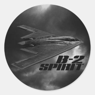 B-2 Spirit Classic Round Sticker