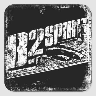 B-2 Spirit Square Stickers