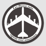 B-52 Peace sign Round Stickers