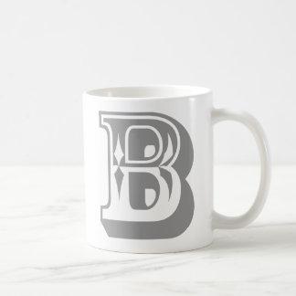 """B"" Alphabet Letter Tee Coffee Mug"