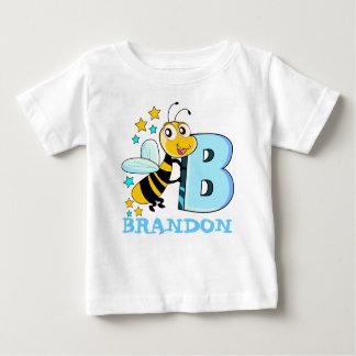 B Bee , name initials Baby T-Shirt