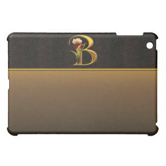 B Gold Iris Monogram  iPad Mini Cover