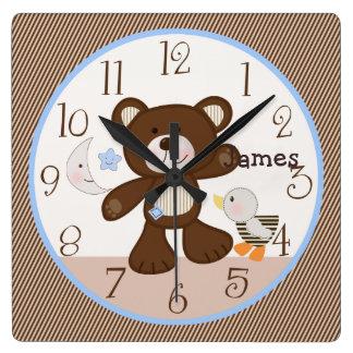 B is for Bear/Teddy Kid's Baby Nursery Clock