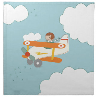 B is for Biplane Napkin